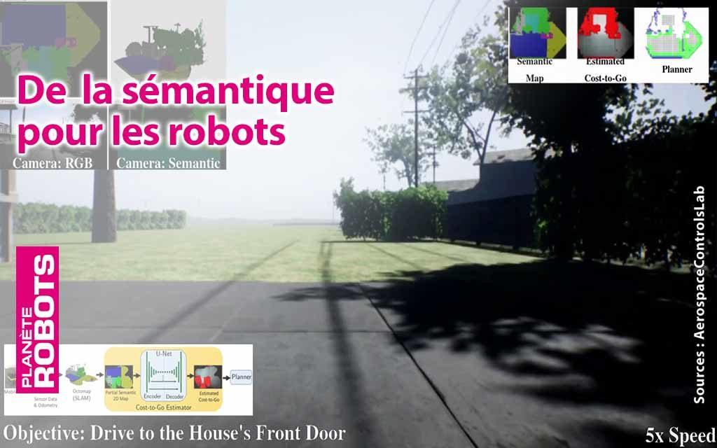 De la recherche sémantique pour plus d'intelligence chez nos robots de livraison