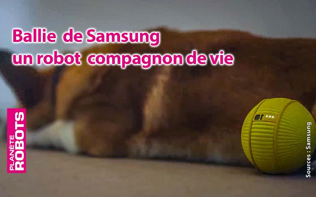 Ballie de Samsung, plus qu'une balle de tennis robotisée