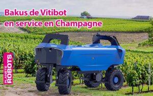Bakus de robot enjambeur de chez Vitibot