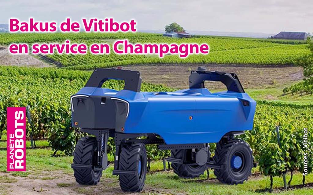 Bakus de Vitibot déployé dans des vignobles français de Champagne
