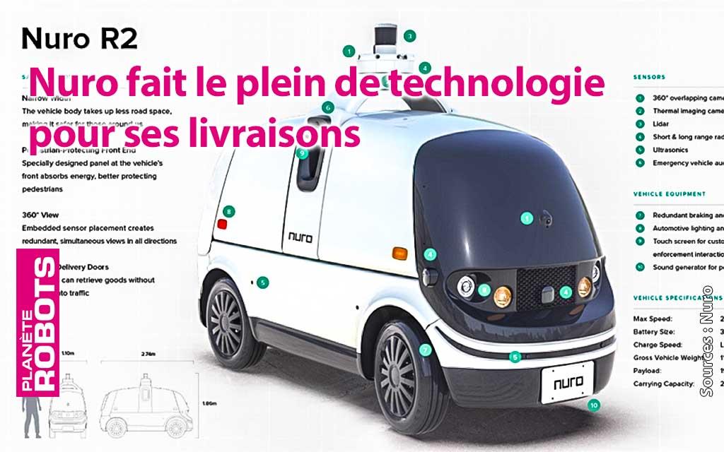 Le robot Nuro 2 de livraison bénéficie d'une nouvelle homologation