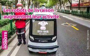 JD logistic et son robot de livraison