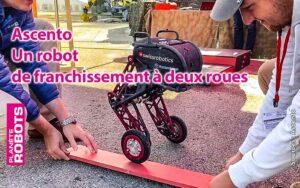 Ascento un petit robot de franchissment de l'ETH