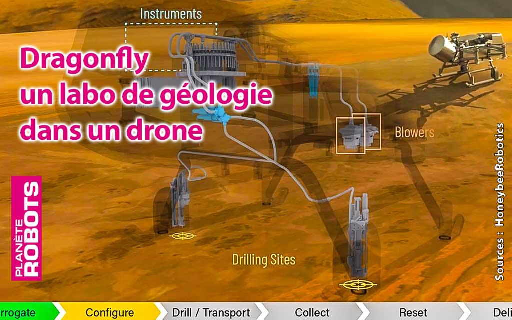 Dragonfly de Honeybee Robotics, un labo de géologie dans un drone