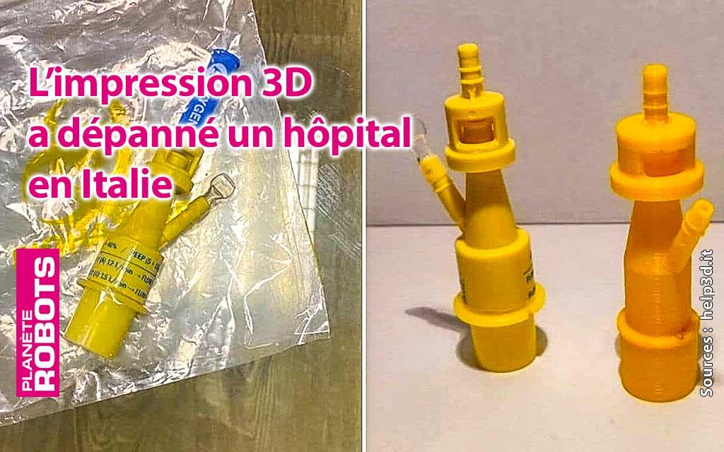 L'impression 3D au secours des hopitaux Italiens