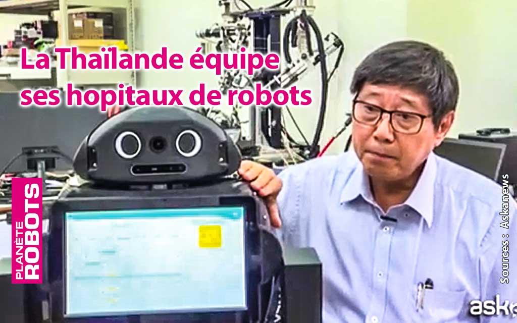En Thaïlande les robots surveillent la température de malades