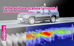 Le système scanne le sous-sol de la route