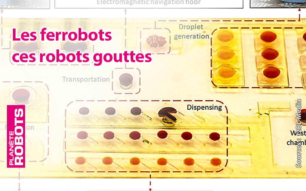 Ces robots ont la taille de gouttes d'eau