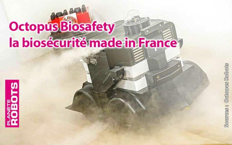 Pulvérisation de biocide par le robot Biosafety de Octopus Robots