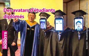 Des robots avatars se sont vus remettre leur diplômes