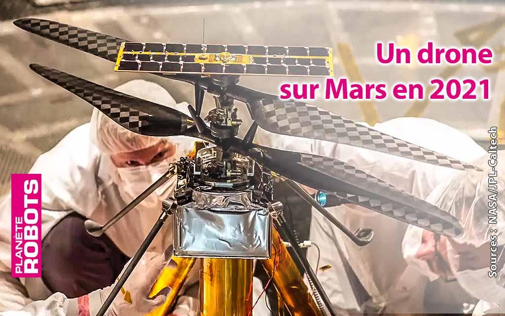 Un robot et un drone autonome sur Mars en février 2021