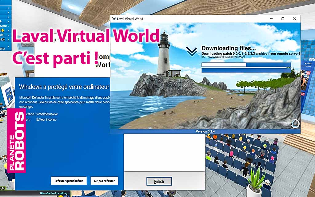 Informations pour installer l'application et rejoindre Laval Virtual World