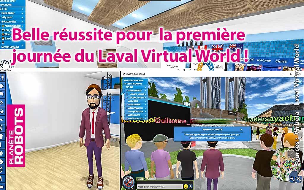 Succès pour la première journée du salon virtuel Laval virtual World 2020