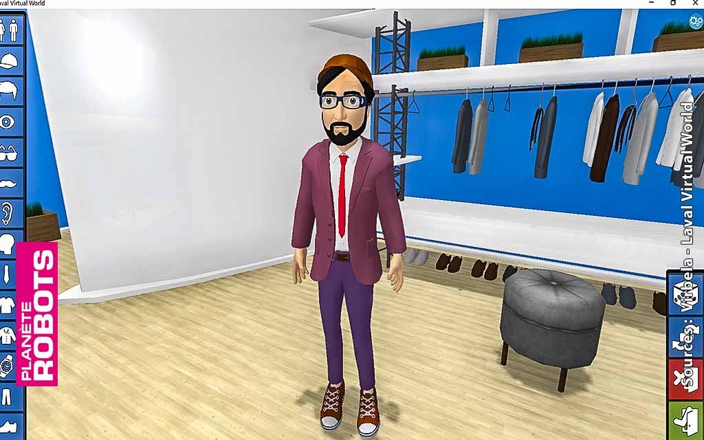Personnalisation d'avatar sur la plate-forme Virbela