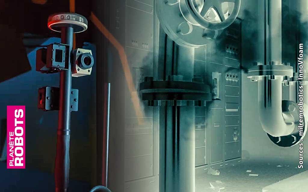 Le système de capteurs des robots pompiers de Milrem Robotics