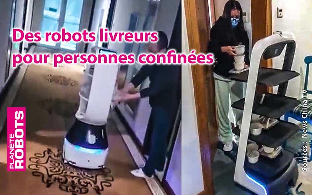 Duo robot et caméra pour veiller au respect de la quarantaine en Chine.