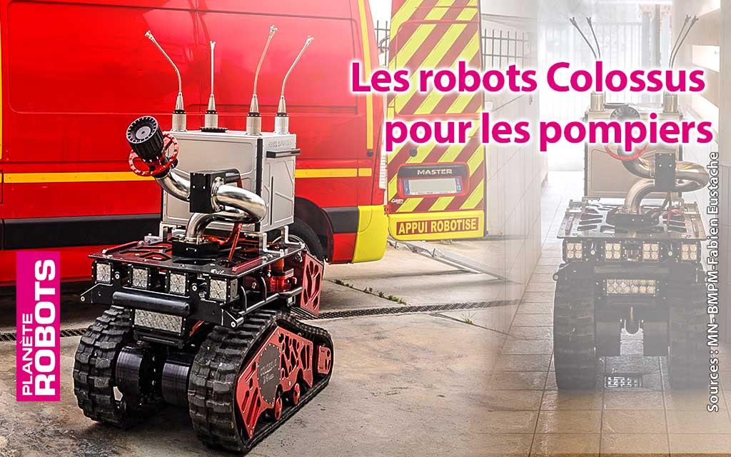 Marius et César, les nouveaux robots pompiers français du Bataillon de Marseille