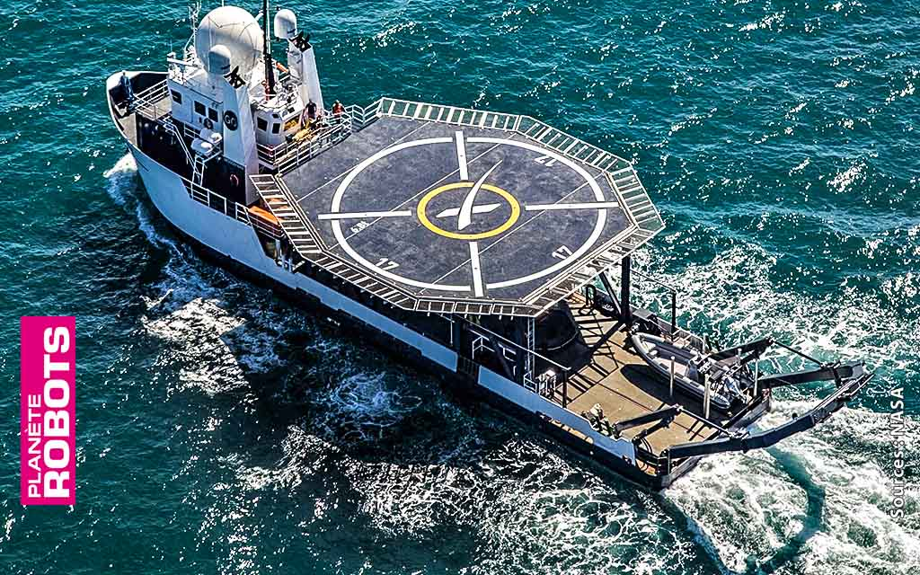 Une fois de retour sur terre Dragon Crew sera récupéré par un navire similaire