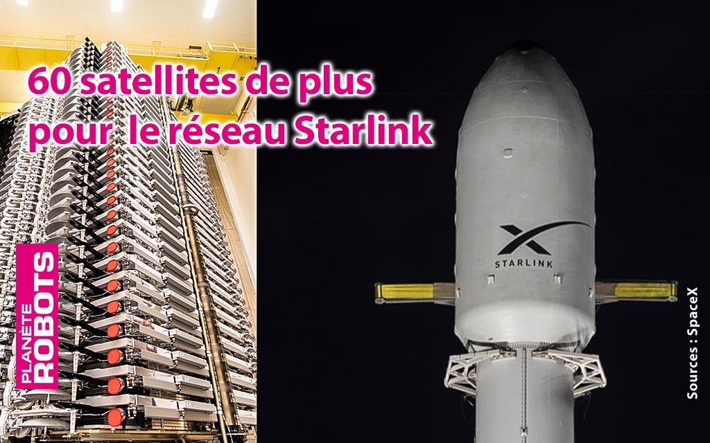 60 nouveaux satellites en orbite pour Starlink