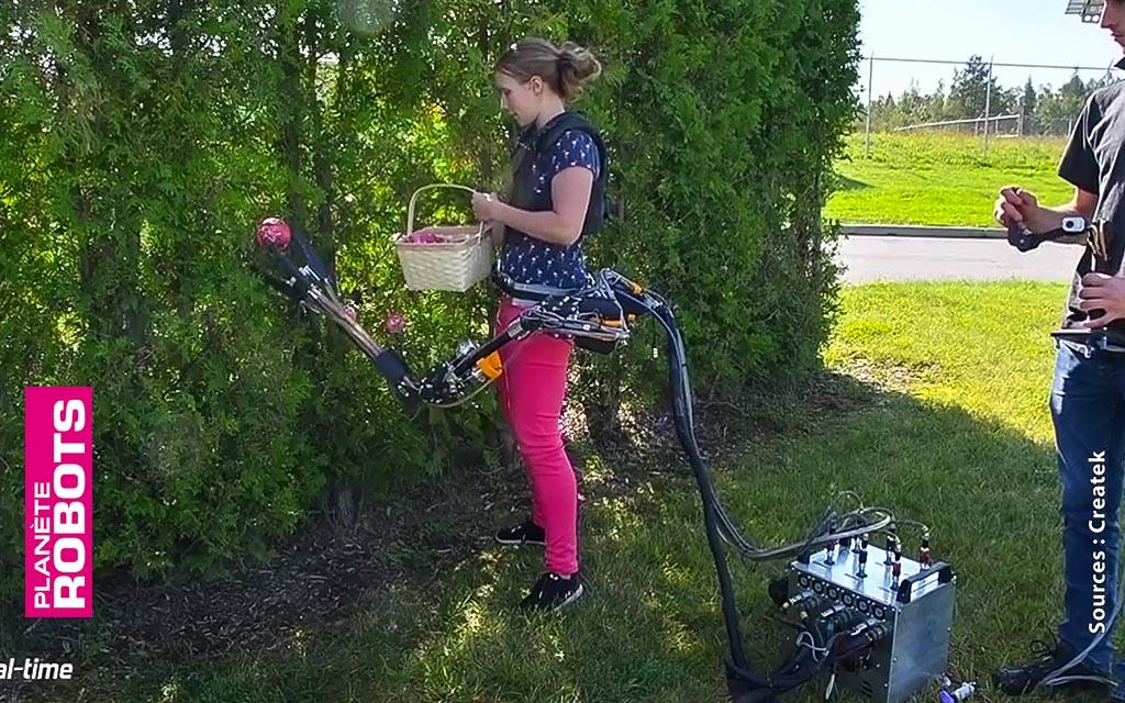 La cueillette de fruits assistée par le bras robot
