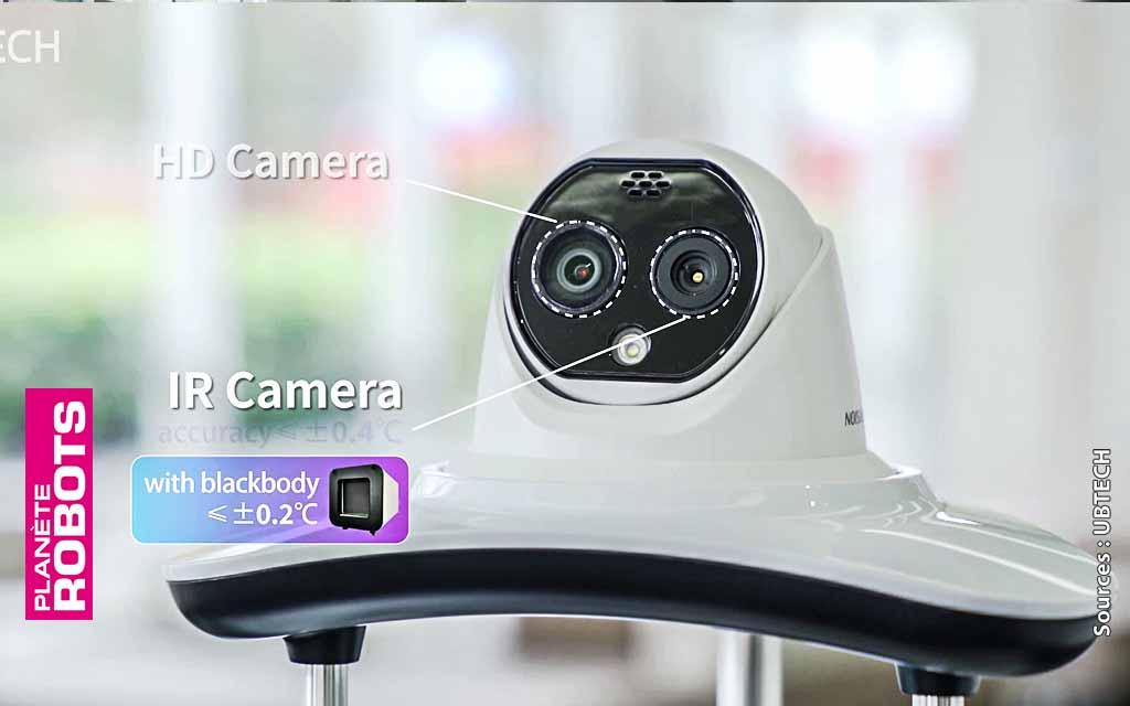 Gros plan sur le système de caméra infrarouge