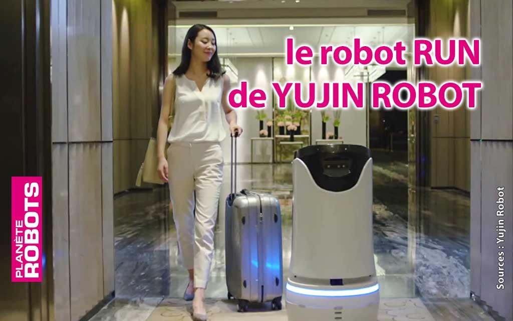 RUN de Yujin Robot, une solution de robot pour les hôtels