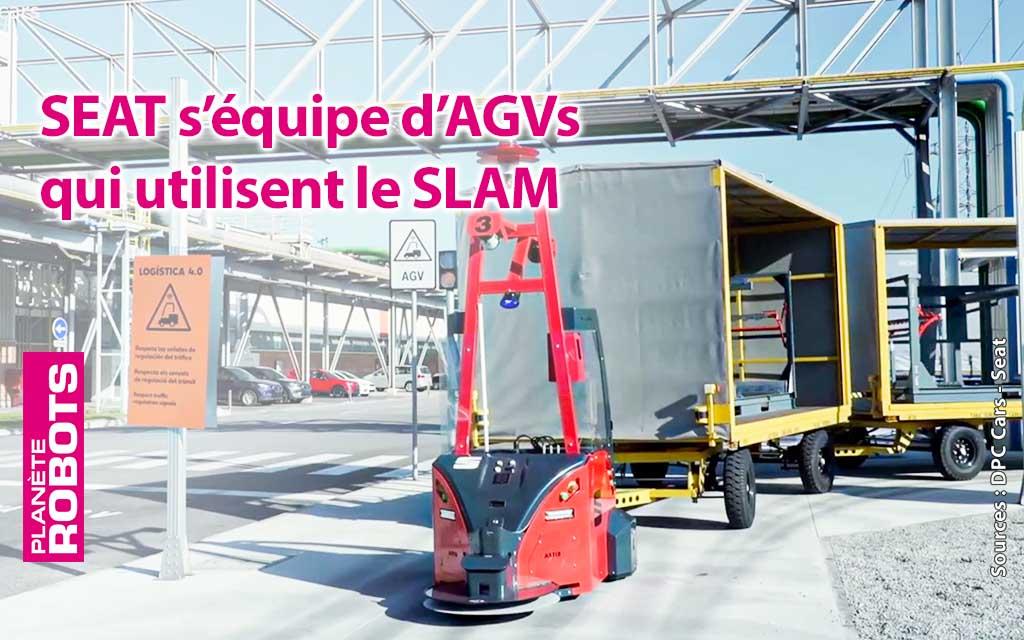 Les robots AGV de SEAT ne se perdent jamais dans l'usine grâce au SLAM