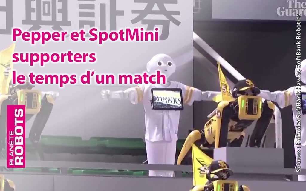 Pepper et SpotMini supporters d'une équipe japonaise de baseball