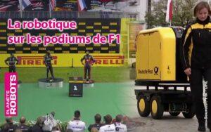 Ce sont des robots qui ont remis les trophées aux pilotes sur le podium