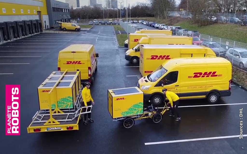 """L'entreprise DHL a aussi lancé des tests pilotes d'utilisation de véhicules """"verts"""" pour la livraison au dernier kilomètre"""