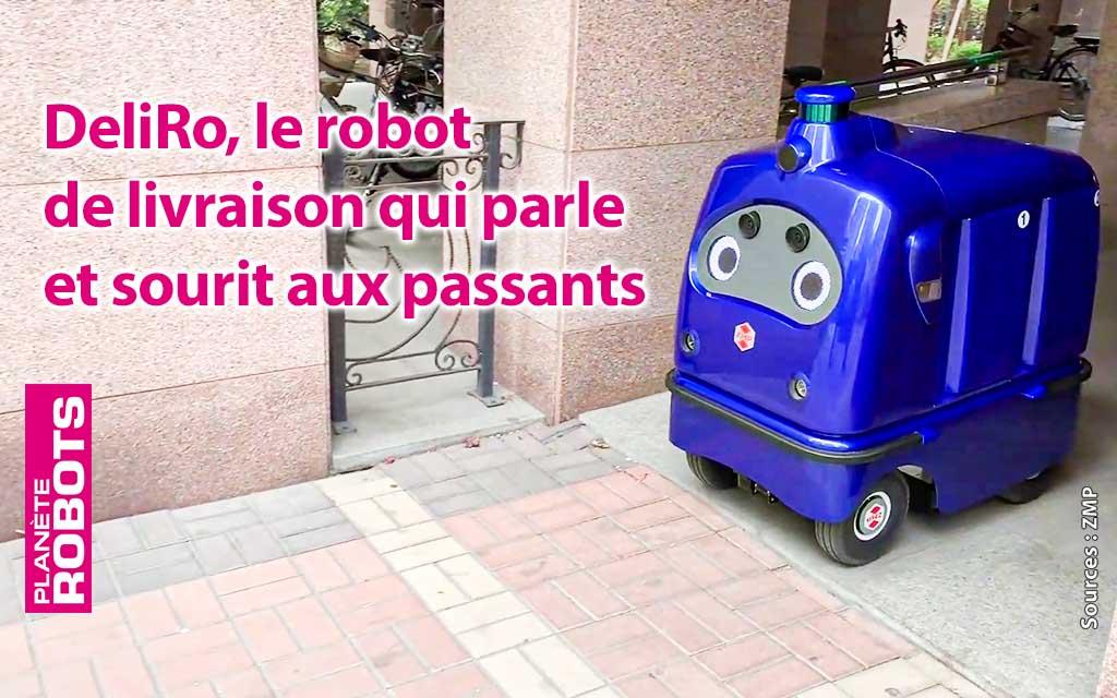 DeliRo le robot de livraison expressif et qui parle.