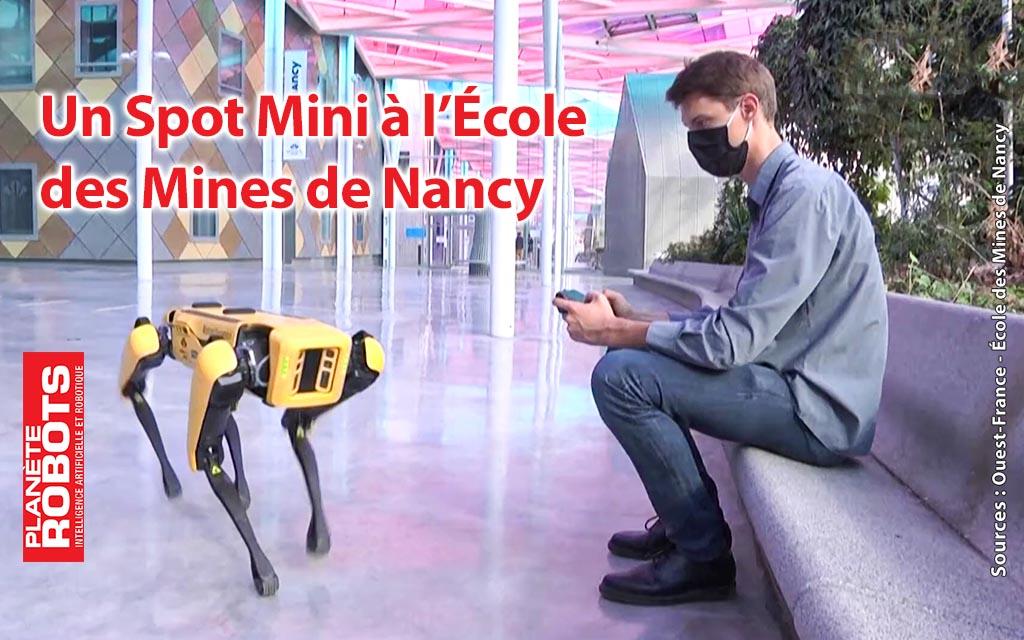 Un robot Spot Mini à l'École des Mines de Nancy