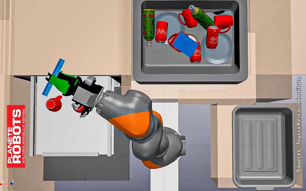 Le robot améliore ses mouvements en réalité virtuelle