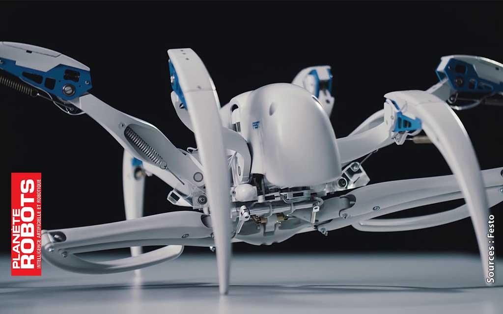 Exemple Festo d'application de la bionique sur un robot araignée