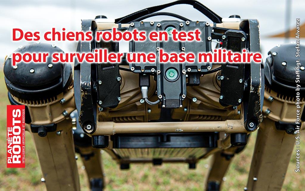 Un chien robot testé à la base aérienne de Tyndall