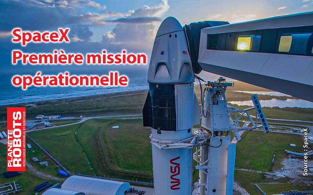 CREW-1 Première mission opérationnelle pour SpaceX
