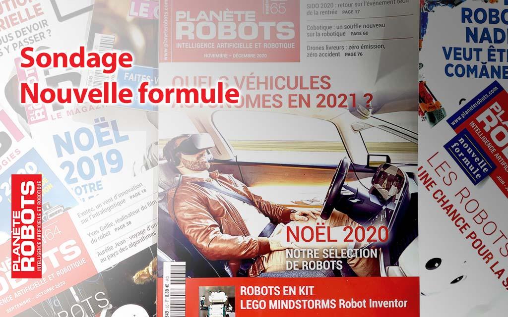 Planète Robots | Sondage Nouvelle formule