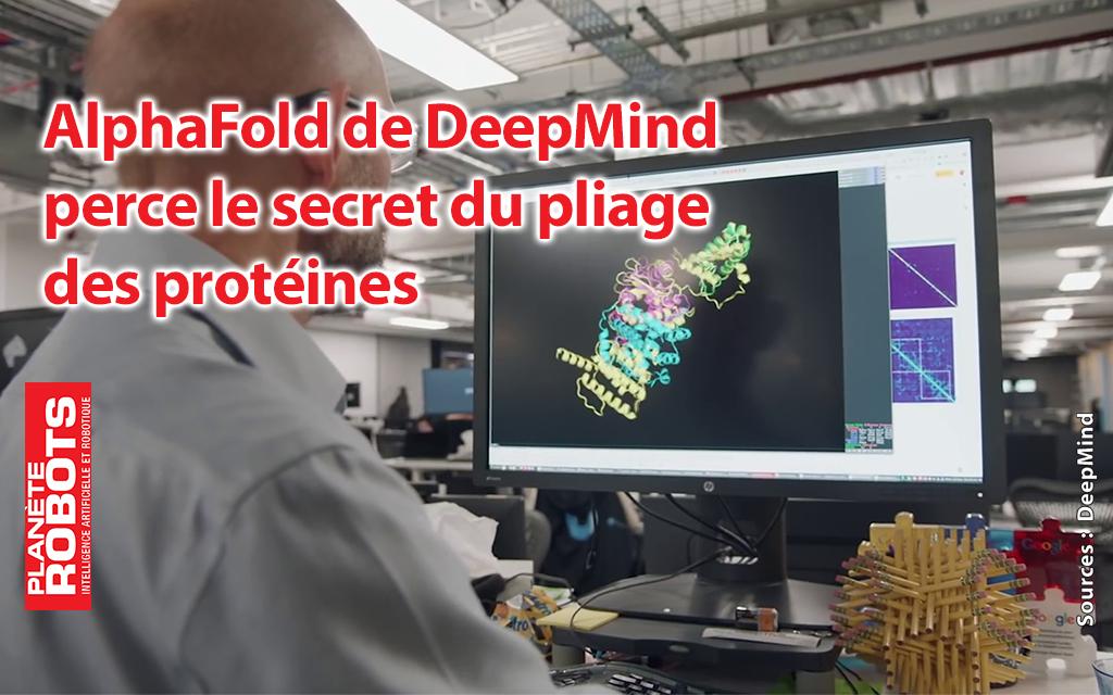 Deepmind perce le mystère du pliage de protéine
