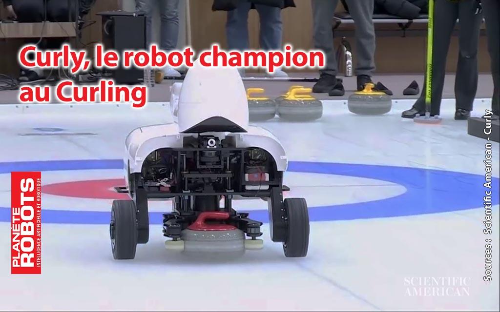Le robot de curling, Curly bat l'équipe de Corée du Sud !