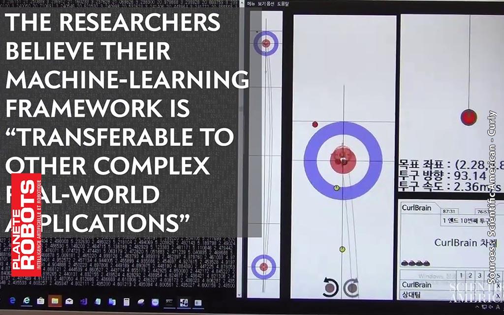 Un écran permet de visualiser les stratégies du robot