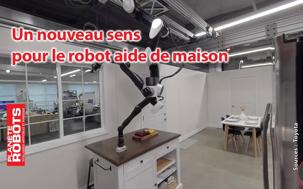 Le sens du toucher pour le robot auxiliaire de vie de Toyota.