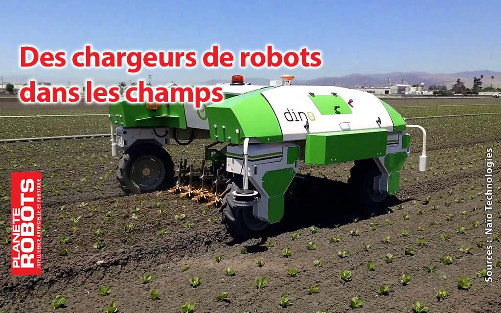 Des chargeurs de batteries pour robots agricoles