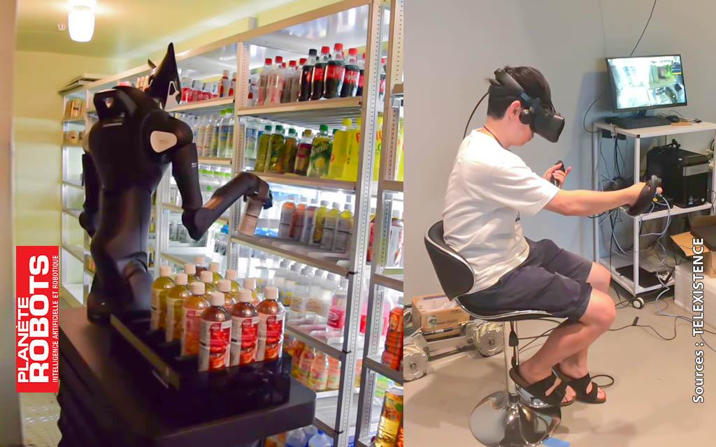 MODEL-T de TELEXISTENCE et un employé en VR