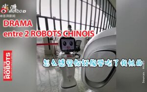 Drama entre deux robots assistants chinois