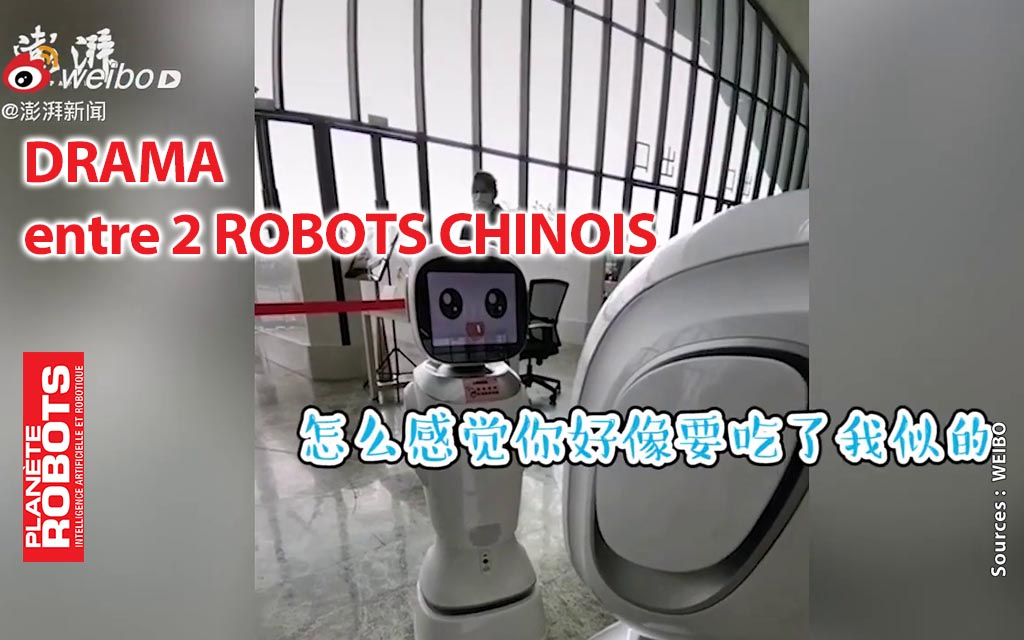 Drama robotique entre deux robots de bibliothèque