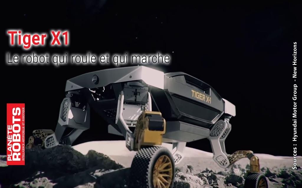 Le véhicule Tiger X1 roule et marche