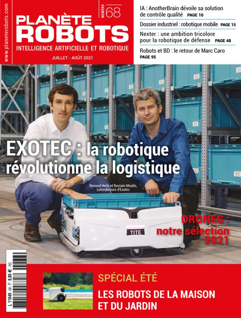 La robotique mobile à la Une du nouveau numéro de Planète Robots