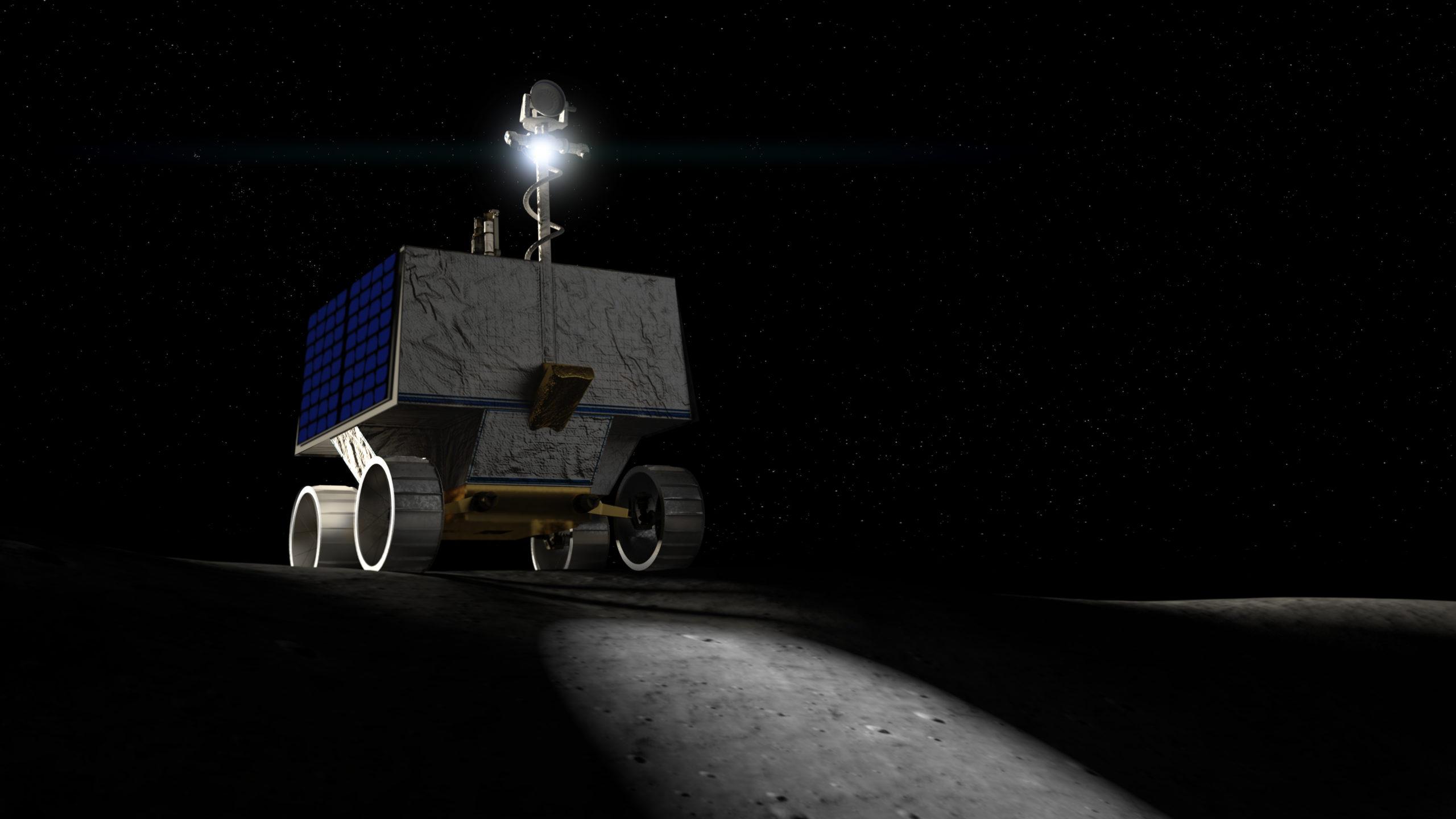 Le robot VIPER dans une illustration de sa mission lunaire.