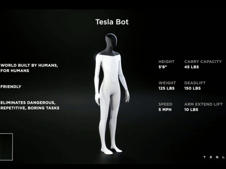 Le Tesla Bot, l'androïde qui fait vos courses à votre place