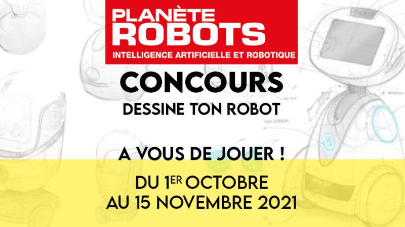"""Notre grand concours """"Dessine ton robot"""" est ouvert"""